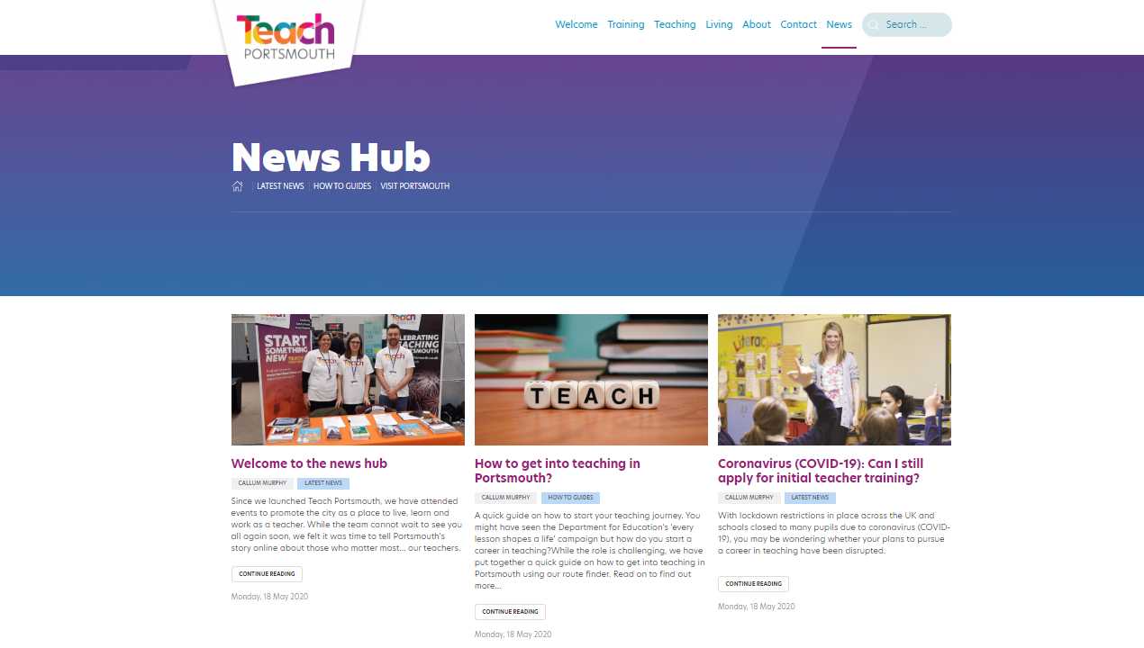 Teach Portsmouth News Hub